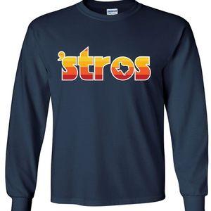 Shedd Shirts Shirts - Houston Astros Jose Altuve STROS Long Sleeve Shirt